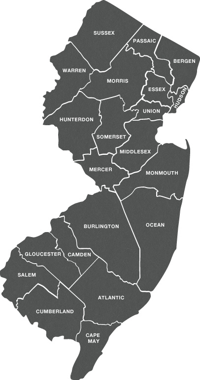Map of New Jersey Furnished Apartments